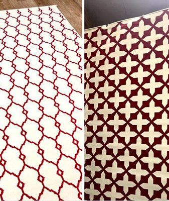In-Stock outdoor rugs at Clarks Building & Decorating Center in Hot Springs, Arizona