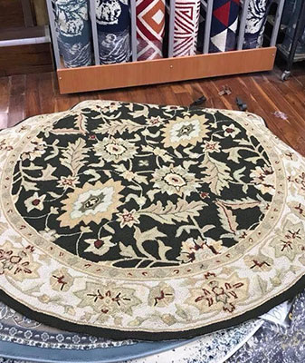 In-Stock round rugs at Clarks Building & Decorating Center in Hot Springs, Arizona